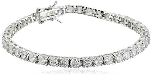 CZ by Kenneth Jay Lane Timeless Basics Cubic Zirconia Classic Tennis Bracelet