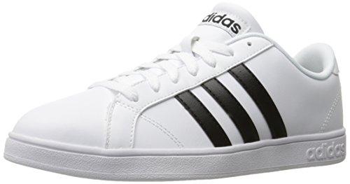 adidas Men's Baseline Fashion Sneakers, White/Black, (10.5 M US)