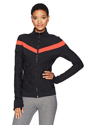 Trina Turk Recreation Women's Swirl Jacquard Jacket, Black, XL