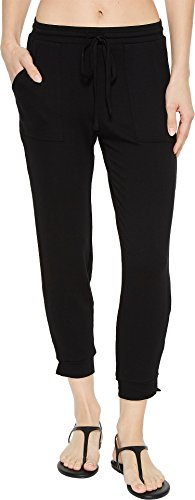 Michael Stars Women's Elevated French Terry Drawstring Pant Black Large 30