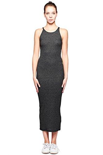 Stateside Women's Slub 2x1 Rib Dress1, Black, S