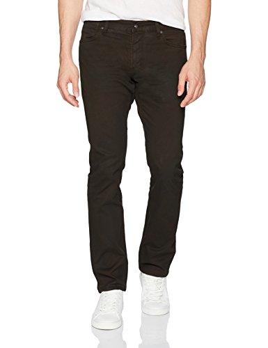 John Varvatos Men's Bowery Fit Jean, Zip Fly Bdll, Dark Brown, 36
