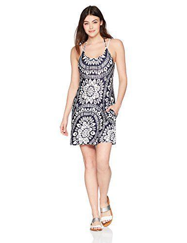 Trina Turk Women's Indochine Short Dress Cover up, Midnight, L
