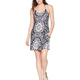 Trina Turk Women's Indochine Short Dress Cover up, Midnight, L