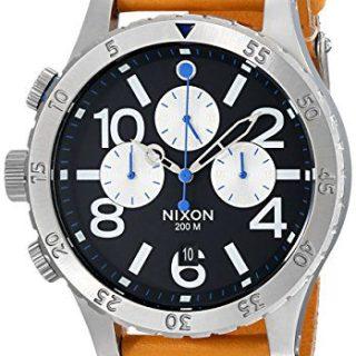 Nixon Men's Chrono Leather Watch