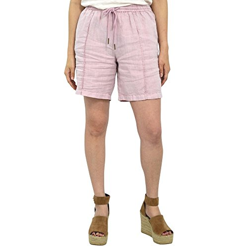 Michael Stars Linen Shorts in Tickle Pink (Small, Pink)