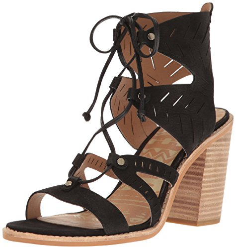 Dolce Vita Women's Luci Heeled Sandal, Black Nubuck, 10 M US