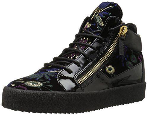 Giuseppe Zanotti Women's Fashion Sneaker, Nero/Multi, 9.5 M US
