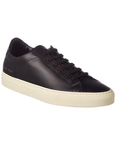 Common Projects Men's Achilles Leather Sneaker, 42, Black