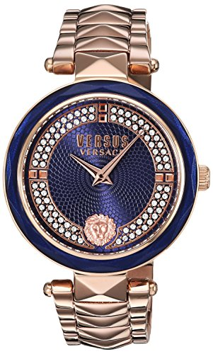 Versus by Versace Women's 'COVENT GARDEN CRYSTAL' Quartz Stainless Steel and Gold Plated Casual Watch