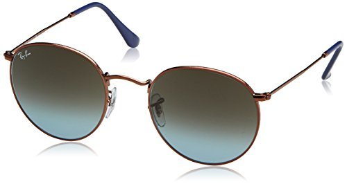 Ray-Ban Metal Round Sunglasses, Shiny Dark Bronze, 53 mm