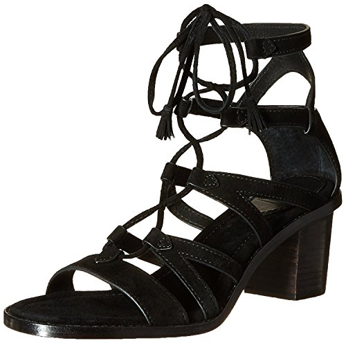 FRYE Women's Brielle Gladiator Dress Sandal, Black, 8.5 M US