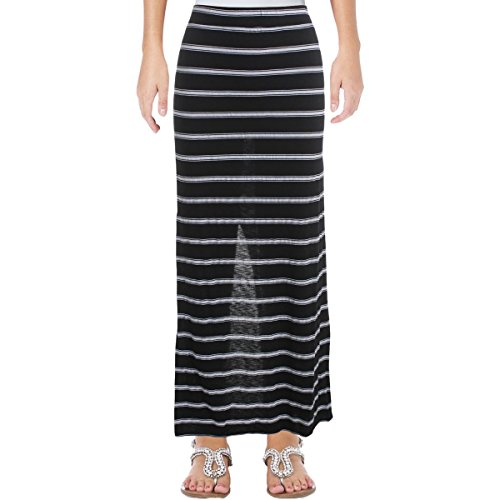 Michael Stars Women's Stripe Maxi Skirt, Black, 1