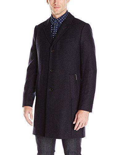 Ted Baker Men's Jackson Top Coat, Navy, 3/Medium