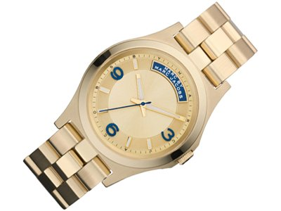 Marc by Marc Jacobs Dave Gold Dial Stainless Steel Quartz Ladies Watch MBM3162