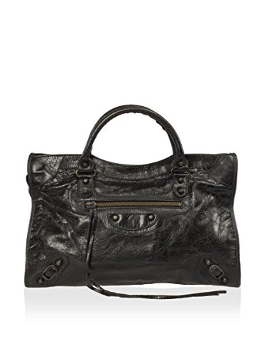 Balenciaga Women's Classic City Lambskin Bag, Black, One Size