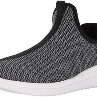 AND1 Men's Too Chillin Too Basketball Shoe, Charcoal Knit/Black/White, 10 M US