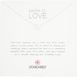 """Dogeared Pearls of Love Sterling Silver and Pearl Necklace, 18"""""""