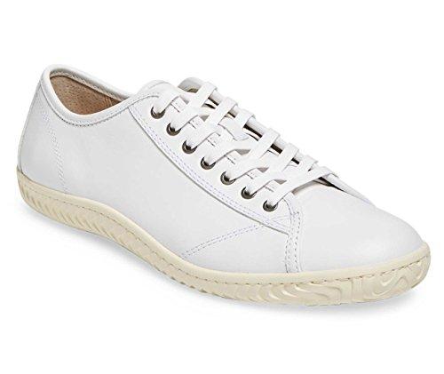 John Varvatos Star H Low Top White Leather Sneaker Men's Size 10.5