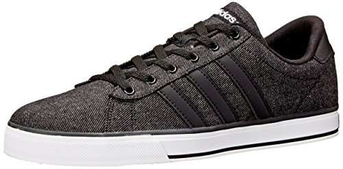 adidas Neo Men's SE Daily Vulc Lifestyle Skateboarding Shoe,Black/Black/White,12 M US