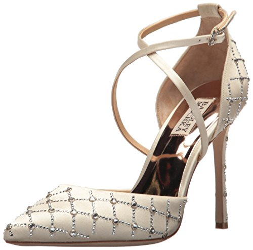Badgley Mischka Women's Shiloh Pump, Ivory, 9 M US