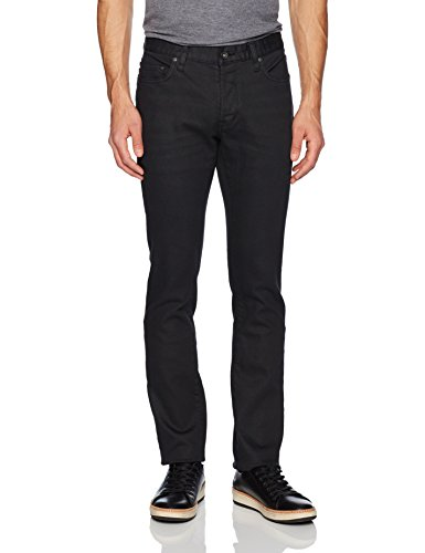 John Varvatos Men's Wight Jean, Button Fly Aoie, Midnight, 38