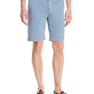 PAIGE Men's Thomspon Flat Front Chino Short, Blue Skyline, 36