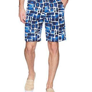 Robert Graham Men's Varadero Woven Short, Blue, 36