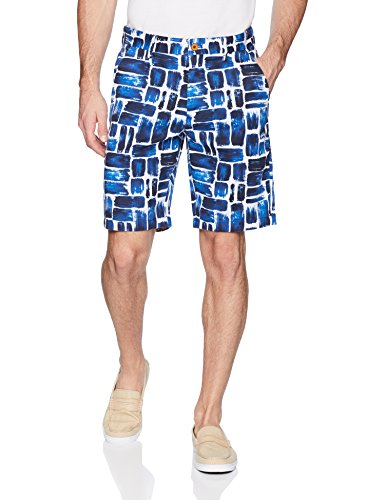 Robert Graham Men's Varadero Woven Short, Blue, 36
