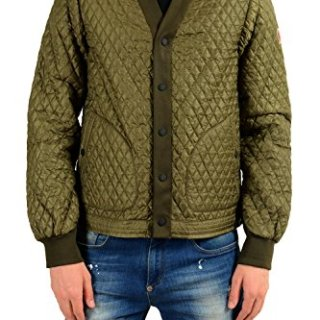 Moncler Men's ORRES Olive Green Quilted Windbreaker Jacket Sz 3 US M