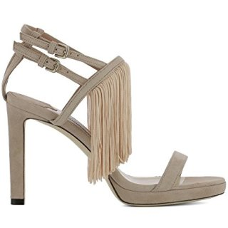 JIMMY CHOO Women's Farrah100pink Pink Suede Sandals
