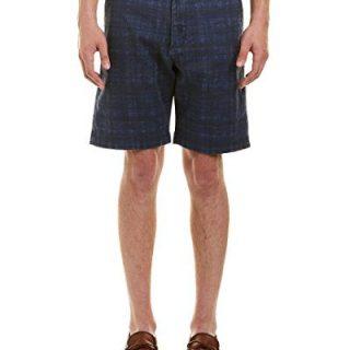 Robert Graham Men's Canaria Classic Fit Woven Short, Blue, 34