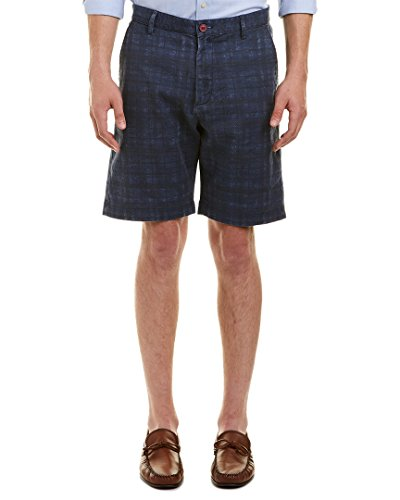 Robert Graham Men's Canaria Classic Fit Woven Short, Blue, 34