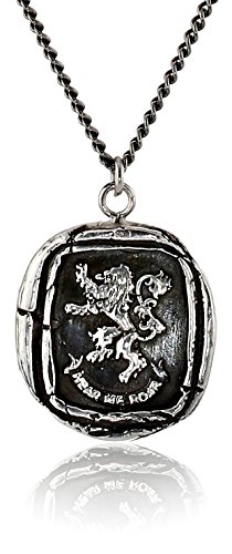 """Pyrrha Unisex For HBO's Game of Thrones Silver House Lannister Necklace, 22"""""""