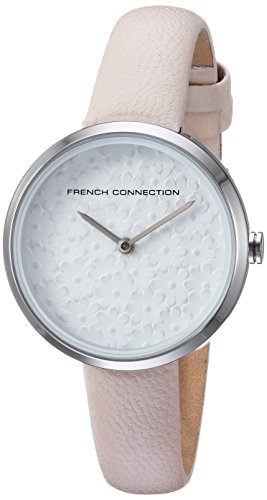 French Connection Women's Quartz Metal and Leather Casual Watch, Color:Pink (Model: FC1295C)