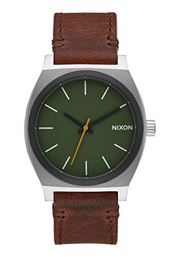 Nixon Men's 'Time Teller' Quartz Leather Watch, Color Brown