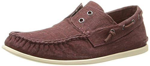 John Varvatos Men's Schooner Slip-On Loafer, Cherrywood, 9 M US