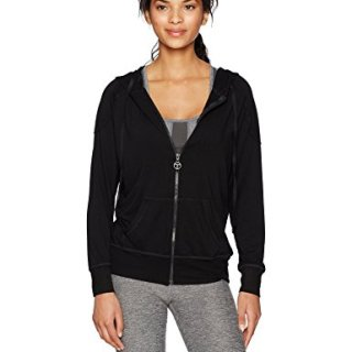 Trina Turk Recreation Women's Terry Hooded Jacket, Black, M