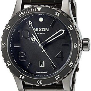 Nixon Men's 'Diplomat SS' Swiss Quartz Stainless Steel Watch, Color:Black