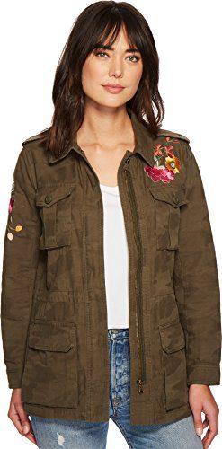Trina Turk Women's micki Jacket Dark Olive Medium