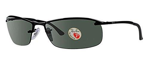 Ray-Ban Men's Sunglasses (Shiny Black Frame Polarized Solid Black Lens, Shiny Black Frame Polarized Solid Black Lens)