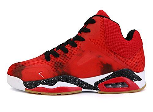 No.66 Town Men's Air Shock Absorption Running Tennis Shoes Sneaker Basketball Shoes Size 11 Red