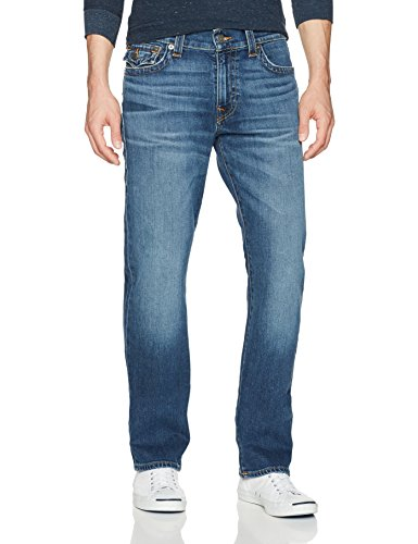 True Religion Men's Ricky Straight Leg Jeans, Indigo Traveler, 40