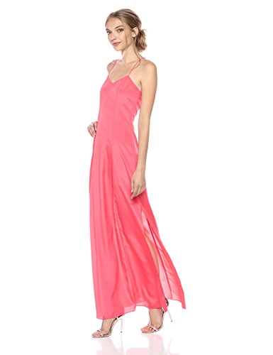 A|X Armani Exchange Women's Solid Sleeveless Maxi Dress, Pink Coral, 8