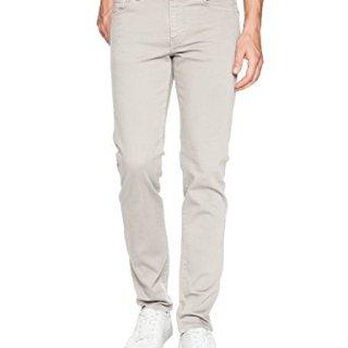 J.Lindeberg Men's Solid Stretch Slim Fit Jeans, Stone Grey, 34/32