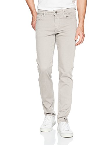 J.Lindeberg Men's Solid Stretch Slim Fit Jeans, Stone Grey, 34/32