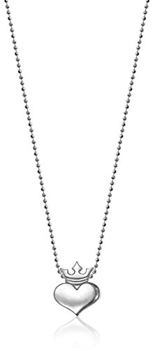 Alex Woo Little Rock Star Heart with Silver Crown Pendant Necklace