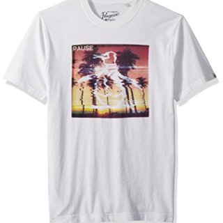 Original Penguin Men's Pause Pete Tee, Bright White, Extra Large