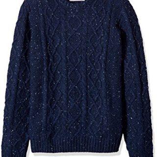 Original Penguin Men's Wool Alpaca Crew Sweater, Dark Sapphire, Large
