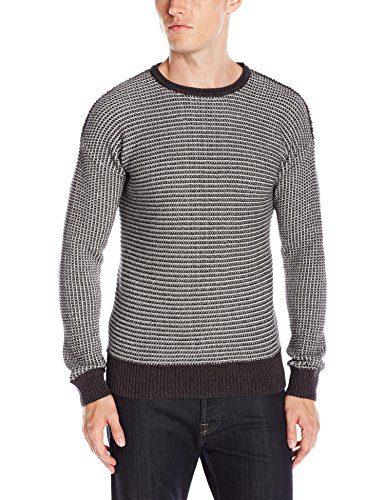 BOSS Orange Men's Arkuso Textured Knit Sweater, Dark Grey, Large